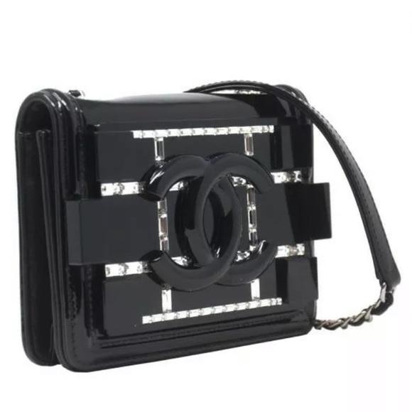 CHANEL Handbags - Limited Edition Patent Leather Mini Boy Brick